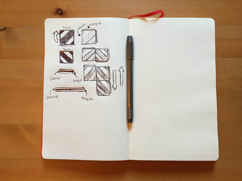 My initial drawings